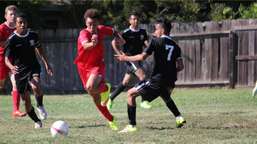 Image of Boys' Soccer team wins Sac-Joaquin section championship against Sacramento Waldorf!