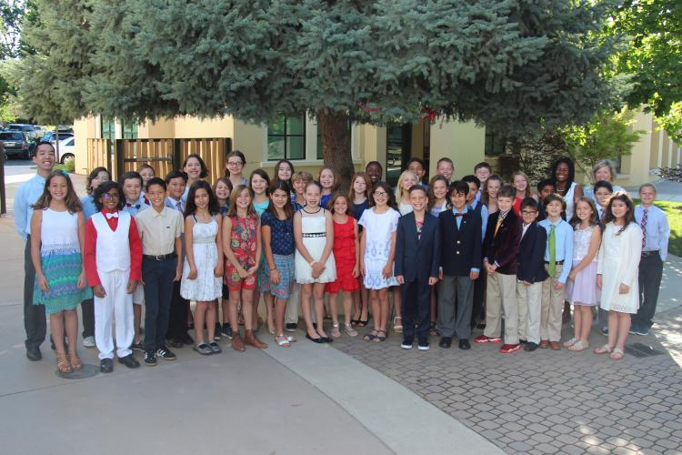 Image of At the Lower School closing ceremony, fifth graders share their favorite memories.