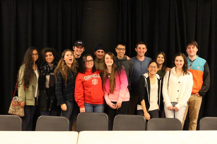 Image of Members of the Class of 2015 return to campus for annual alumni panel.
