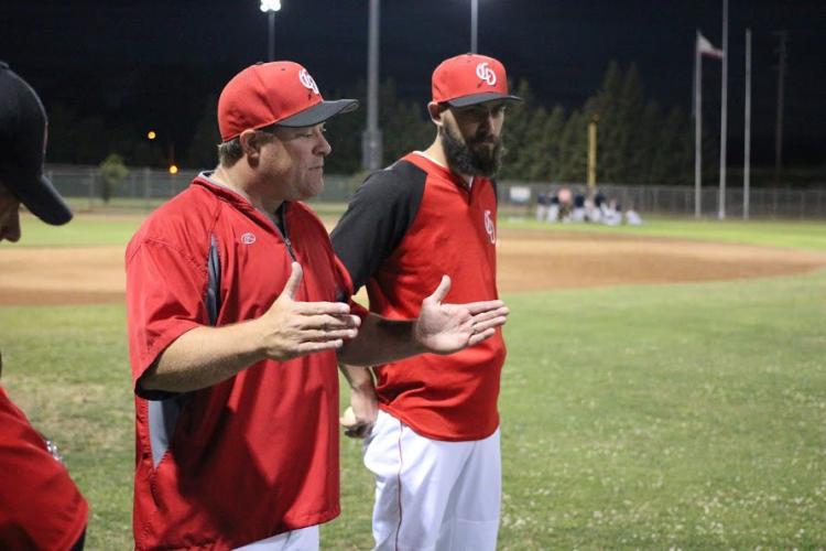 Image of Cavaliers baseball coach,Chris Millsback, named all-league coach of the year.