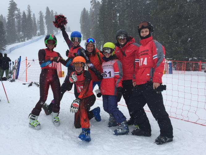 Image of Ski team members race at Northstar with great results: Giant Slalom 1st and 2nd!