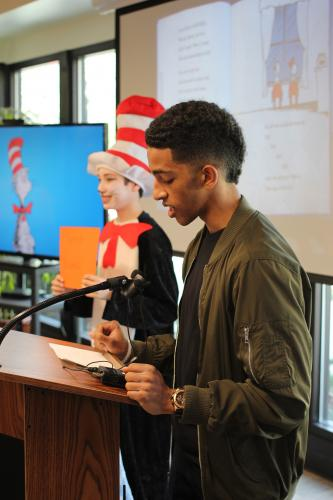 """Image of How many languages are spoken at SCDS? At the annual reading of """"The Cat in the Hat,"""" there were 27!"""