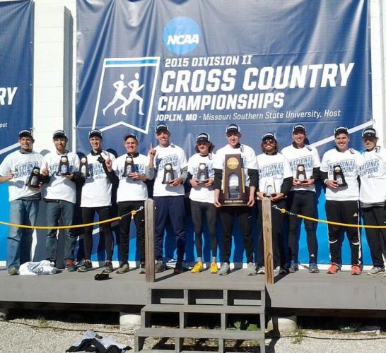 Image of Class of 2013 graduate Logan Winfield is a member of the NCAA Division II cross-country championship team.